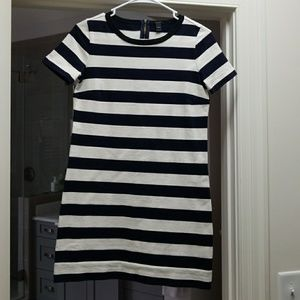 J. Crew navy and white striped cotton dress XXS